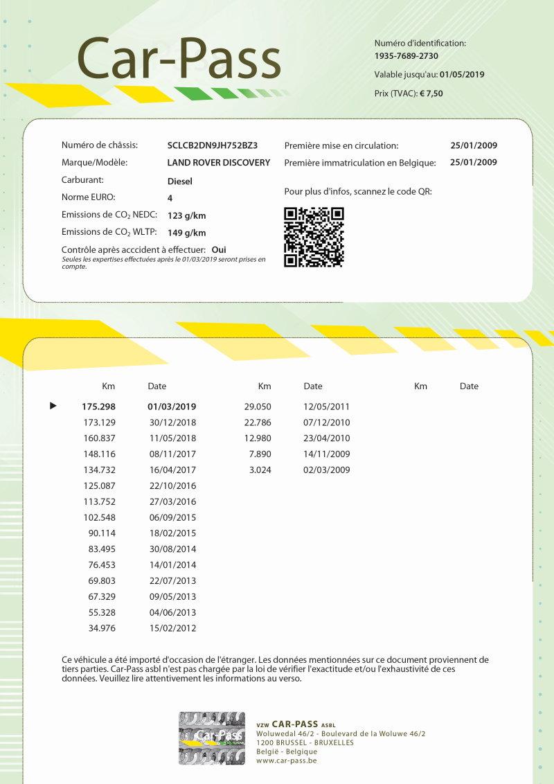 Certificaat Car-Pass