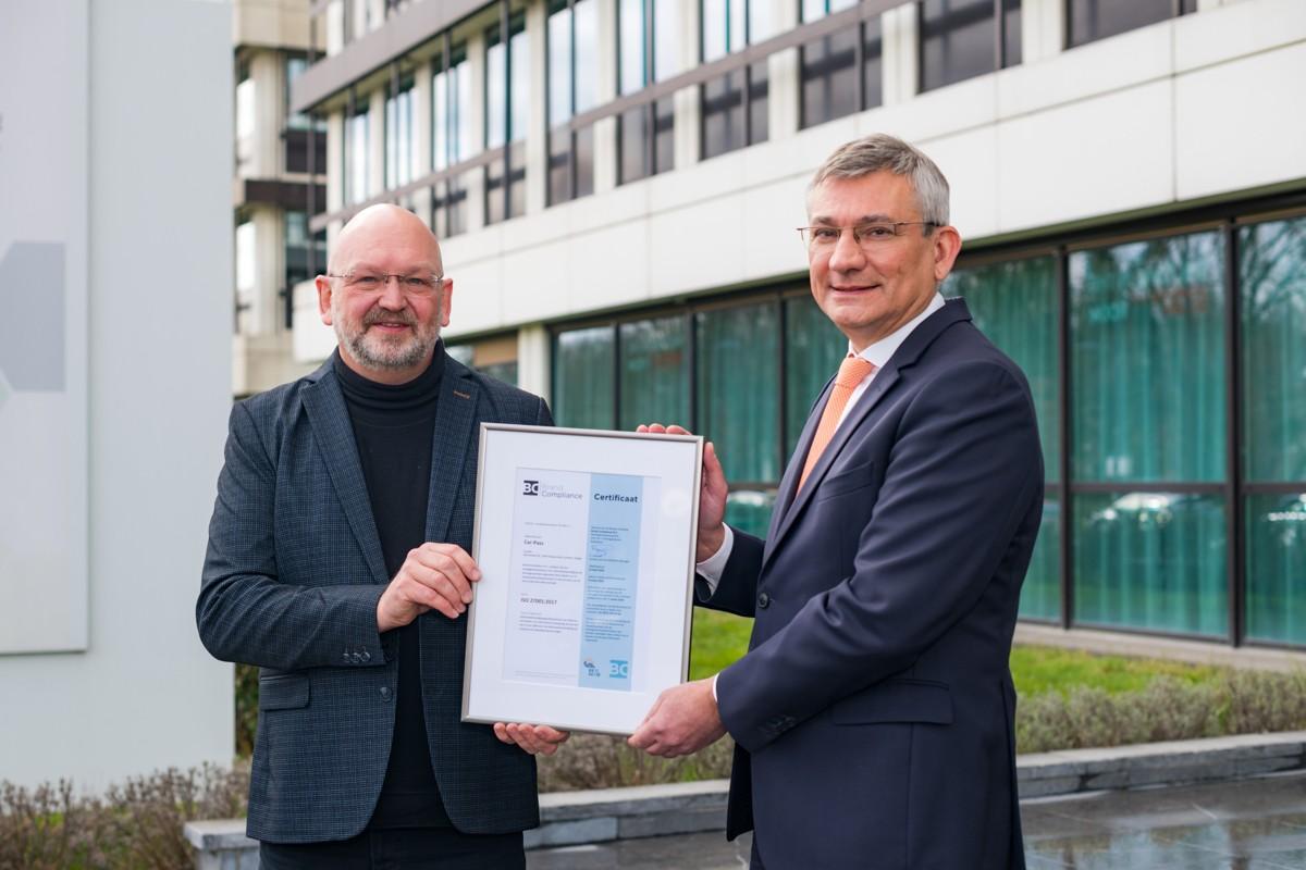 Car-Pass ontvangt het ISO 27001 Certificaat